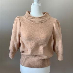 Free people three-quarter length cropped sweater